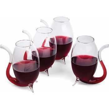 Conjunto com 4 Sippers de Vinho - Fox Run Prana
